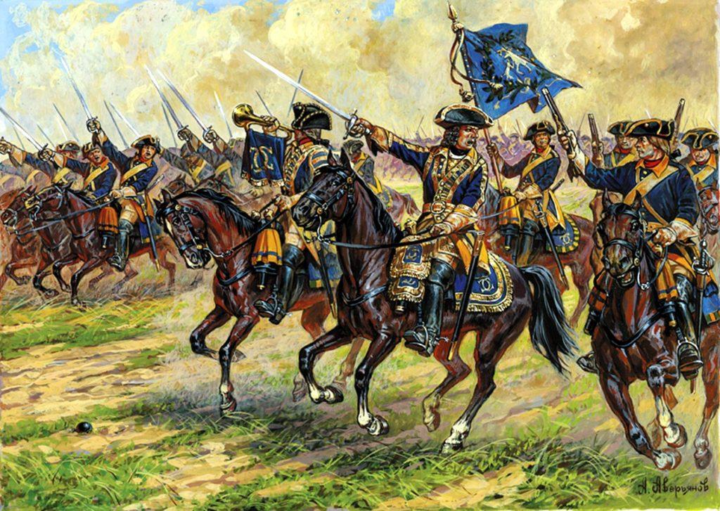 Петр I с Русскими войсками отвевал территории Ингерманландии назад