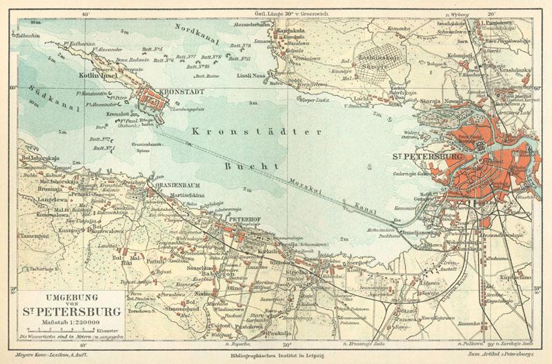 после изгнания шведов с территории острова Котлин, Петр I занял за постройку крепости Кронштадт