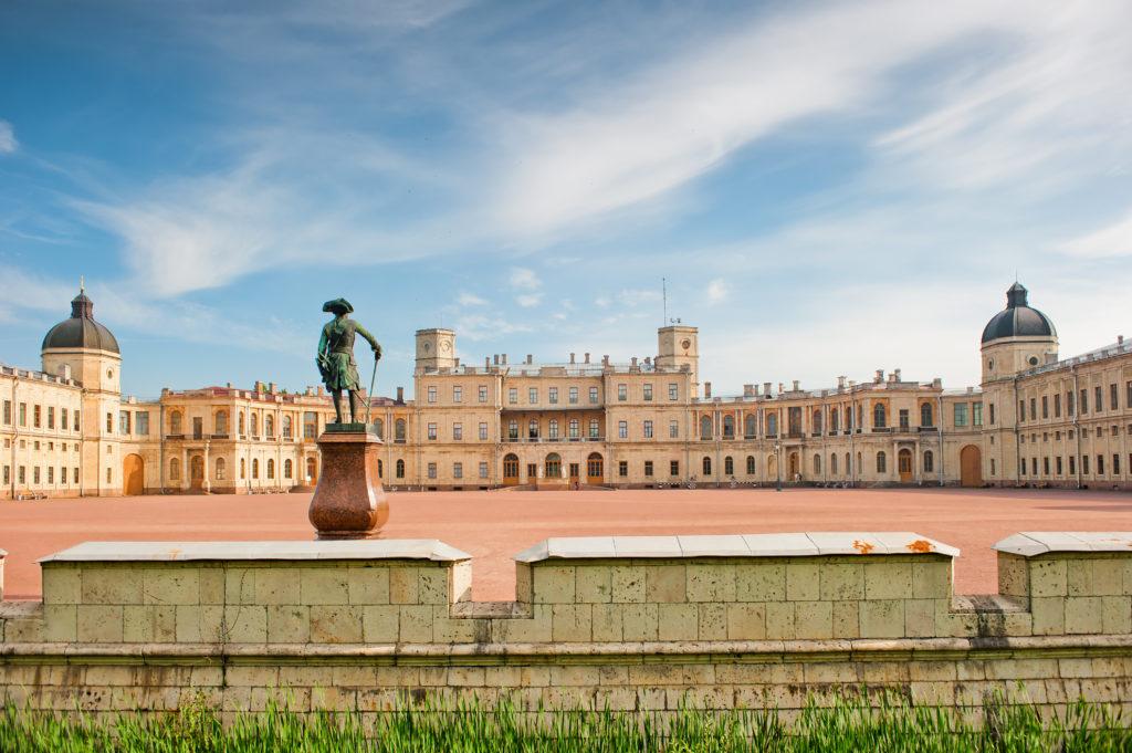 Гатчинский дворец заложен в 1766 году  в Гатчине по проекту Антонио Ринальди